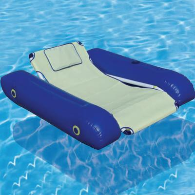 Swimming pool beach floating frame chair inflatable lounge mat