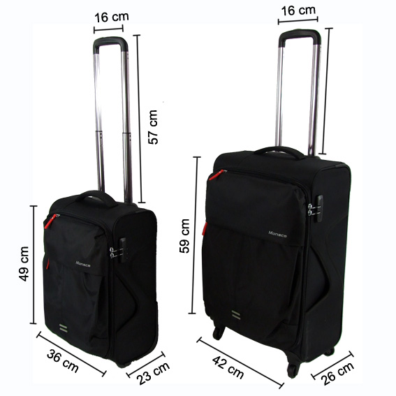 new 2 pc luggage suitcase 4 wheels travel cabin size bag. Black Bedroom Furniture Sets. Home Design Ideas